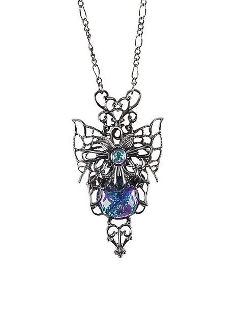 filigree opal butterfly necklace topic