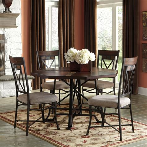 slate dining room table signature design by ashley hammis round table and