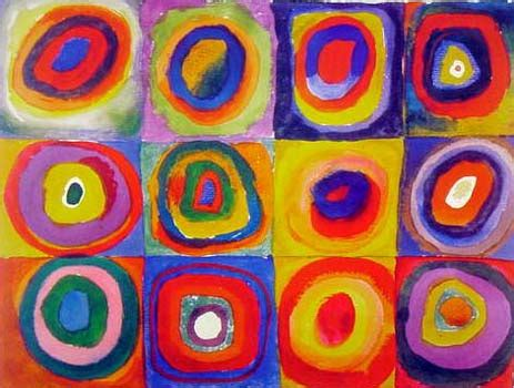 color study squares with concentric circles allencentre circles