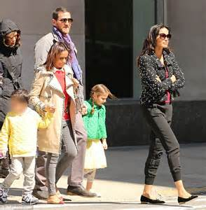 Necklace Name Padma Lakshmi And Adam Dell With Daughter Krishna After Custody Battle Daily Mail Online