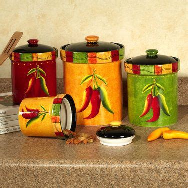 canisters kitchen decor 98 best chili pepper decorations for the kitchen