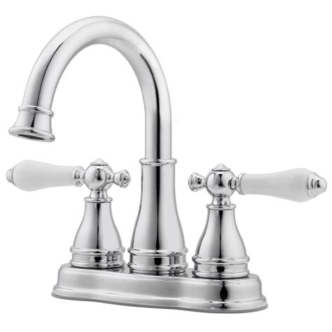 Shop Pfister Sonterra Polished Chrome 2 Handle 4 In Chrome Bathroom Faucet