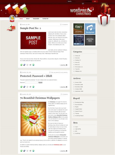 christmas themes wordpress premium and free christmas wordpress themes