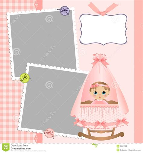 Cute Template For Baby S Card Stock Vector Illustration Of Greetings Child 19507900 Baby S Card Template