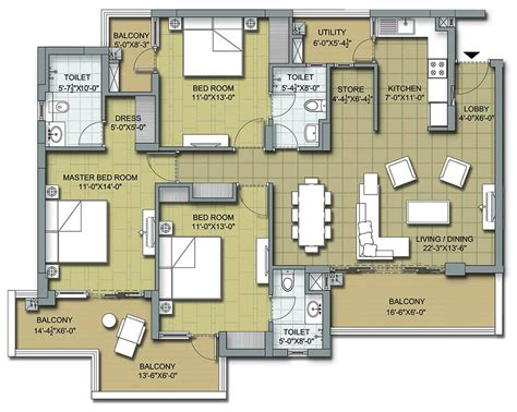 floor plans for flats floor plans 3 bhk and 4 bhk apartments in chandigarh