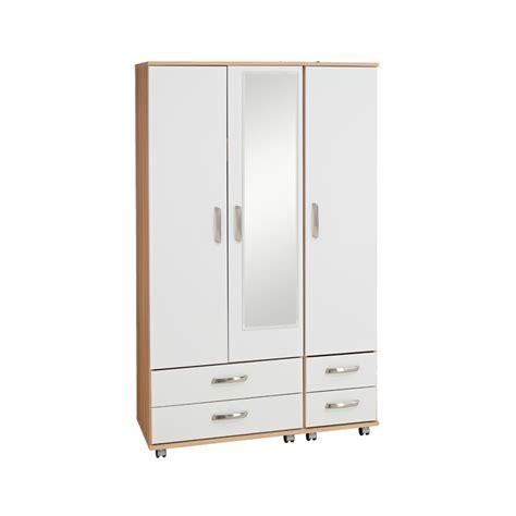 budget beds regal 3 door 4 drawer wardrobe with mirror budget beds