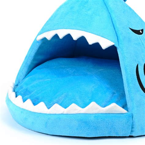 cat shark bed shark bed for cats dogs jammin jaws series mylittlebrownie
