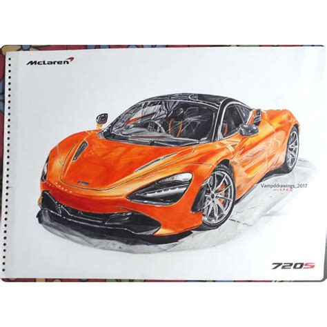 mclaren drawing mclaren 720s vd drawings draw to drive