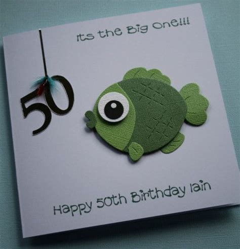 Fishing Birthday Cards Fish Birthday Card Cards General Pinterest