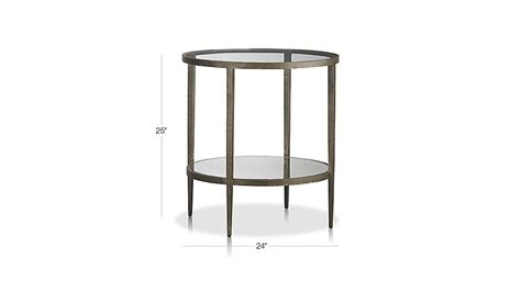 Clairemont Round Side Table Crate And Barrel Crate And Barrel Clairemont Coffee Table