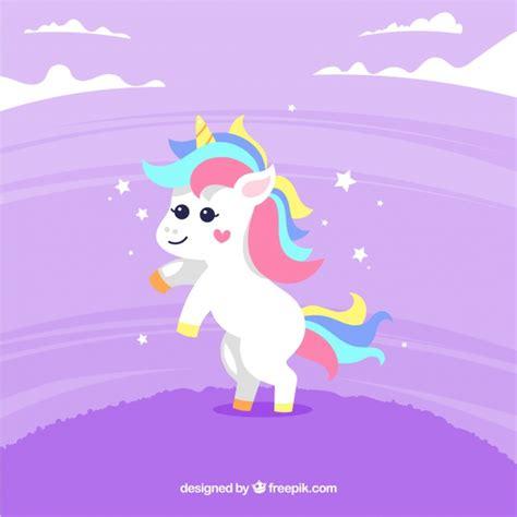imagenes de unicornios morados fondo morado de bonito unicornio descargar vectores gratis