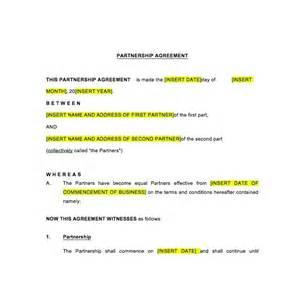 australian partnership agreement template partnership agreement law4us agreement template