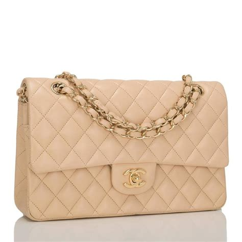 Quilted Chanel Bag Price by Chanel Beige Quilted Lambskin Medium Classic Flap