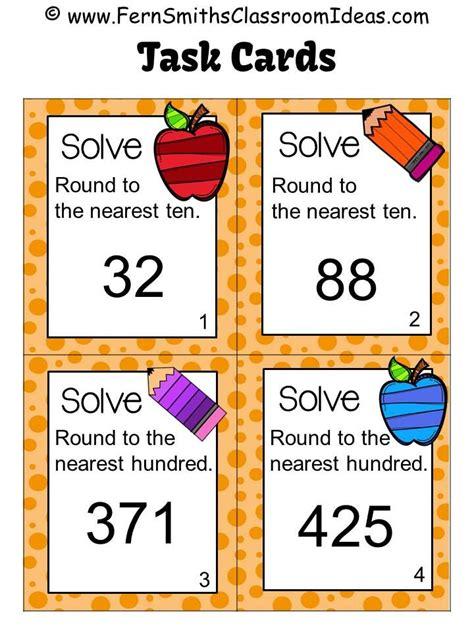 task cards rounding to the nearest ten or hundred task cards