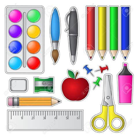 imagenes de objetos de utiles escolares dibujo utiles escolar m 193 s dibujillos pinterest