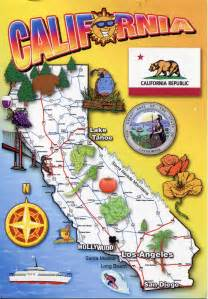 california map with tourist attractions detailed tourist map of california state california state