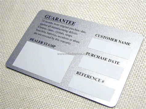 guarantee card template printed plastic cards luggage tags calendar cards