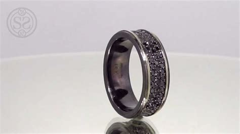 Custom Black Diamond Men's Wedding Band   YouTube