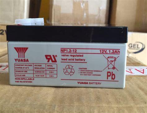 Baterai Ups Yuasa jual aki ups yuasa 12v1 2ah distributor panel surya