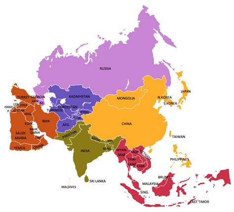 maps of asia geo map asia