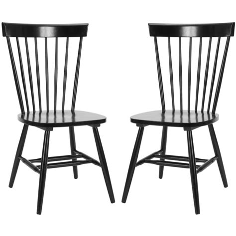 safavieh country lifestyle spindle back black dining chair