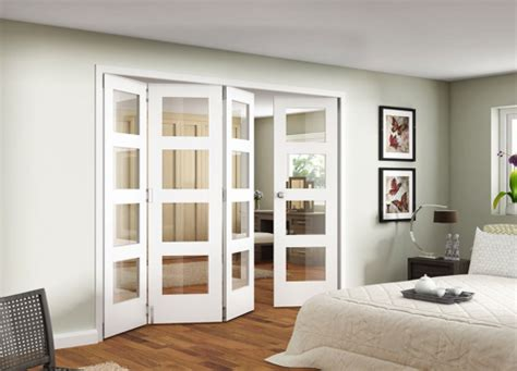 Interior Folding Doors White White Shaker 4 Light Clear Bifold Door Range Interior Folding Door System Image Doors