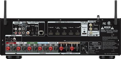 denon avr sw  ch   watts networking av receiver