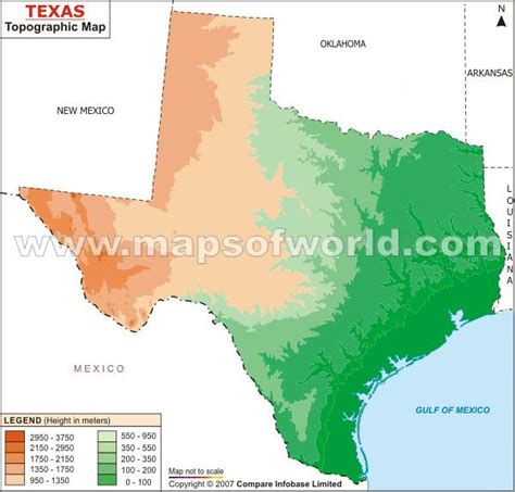 topographical map of texas topography map of texas houston texas