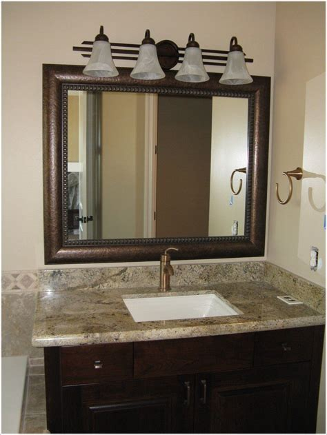 12 ideas of framed bathroom mirrors interior design