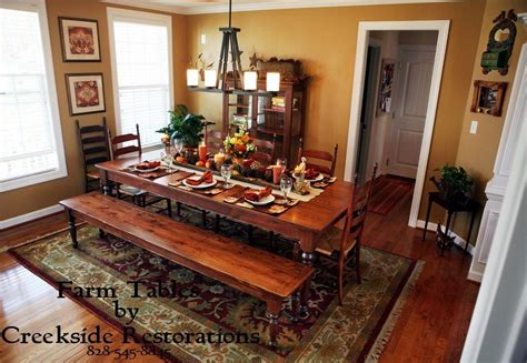 Bench Style Dining Room Tables | matching farm style dining table and benches in knotty