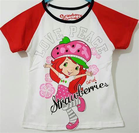 Baju Anak Cewek Pineapple kaos strawberry shortcake white 1 6 straberry grosir