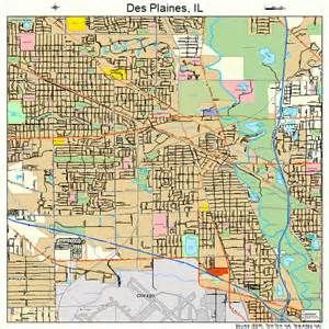 des plaines illinois street map 1719642