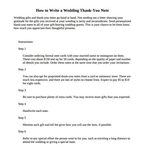how to write thank you notes for wedding gifts gift card 11 sle wedding thank you notes sle templates