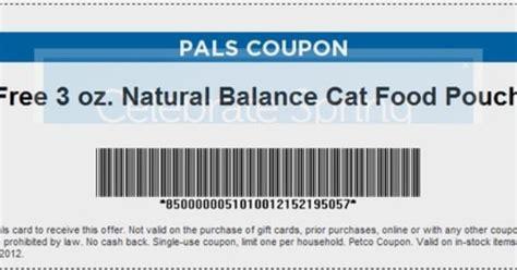 printable natural balance dog food coupons petco free balance cat food pouch printable coupon free