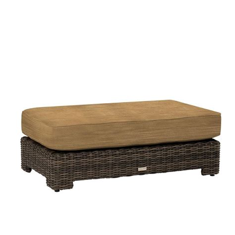 cushion ottoman coffee table brown northshore patio ottoman coffee table with
