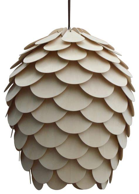 Pine Cone Pendant Light Wood Pine Cone Hanging 1 Light Pendant L Pendant Lighting By Oakl Deco Lighting