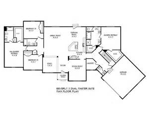 dual master house plans schumacher homes house plan detail