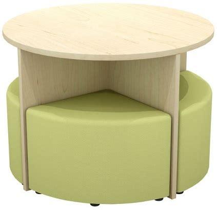 4 ottoman set quattro table and ottoman set ikcon