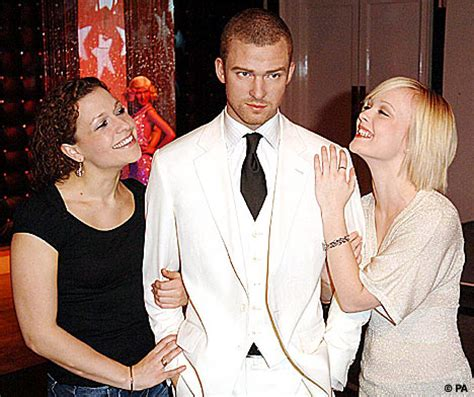 Britneys Ex Stands by Justin S Waxwork Is A Hit With Fans Daily