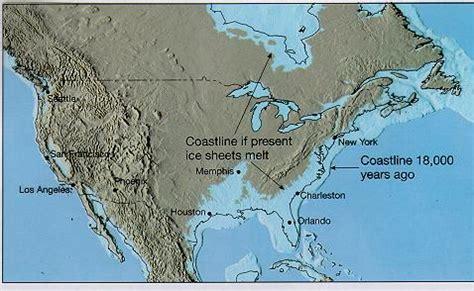 map world after glaciers melt glaciers