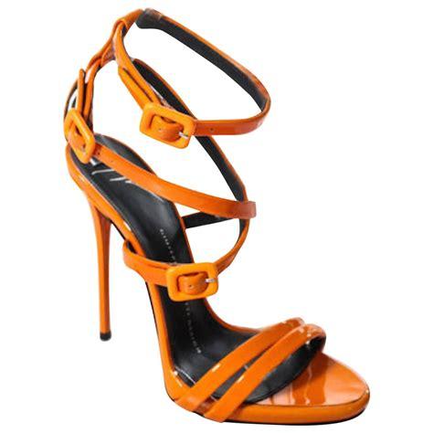 orange strappy sandals giuseppe zanotti brand new orange patent leather strappy