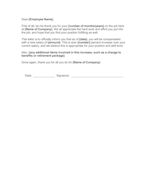 Hourly Raise Letter Annual Salary Increase Template