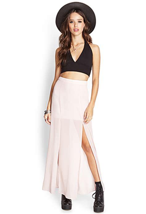 m slit sheer maxi skirt forever21 2000088643