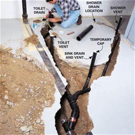 how to plumb a basement bathroom creative home designer