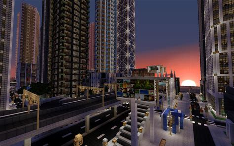modern city detailed modern city new crafton work in progress