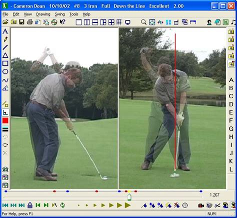 how to analyze a golf swing golf swing analysis software pro golf swing library