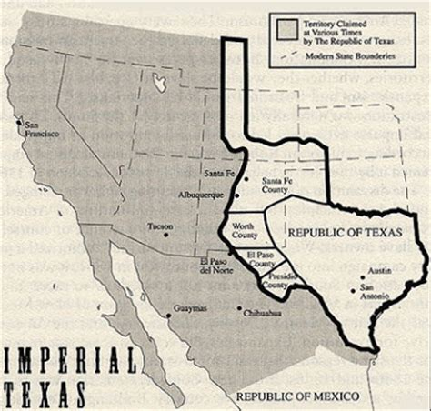 republic of texas map 1836 world of strange maps imperial texas imagine a texas republic map