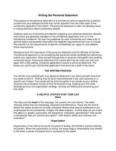 How To Write A Personal Statement For A Resume by Writing A Personal Statement Sle