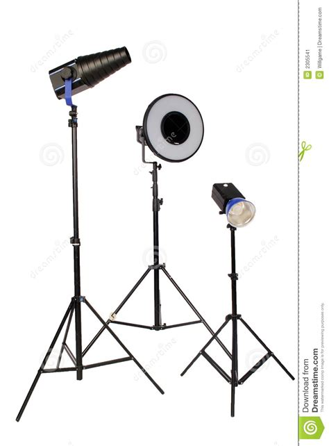 Tripod Flash flash on a tripod for photography stock photography