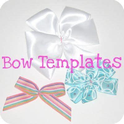 pinwheel bow template bow templates hair parts